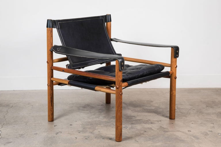 """Swedish Rosewood """"Sirocco"""" Safari Chair by Arne Norell For Sale"""