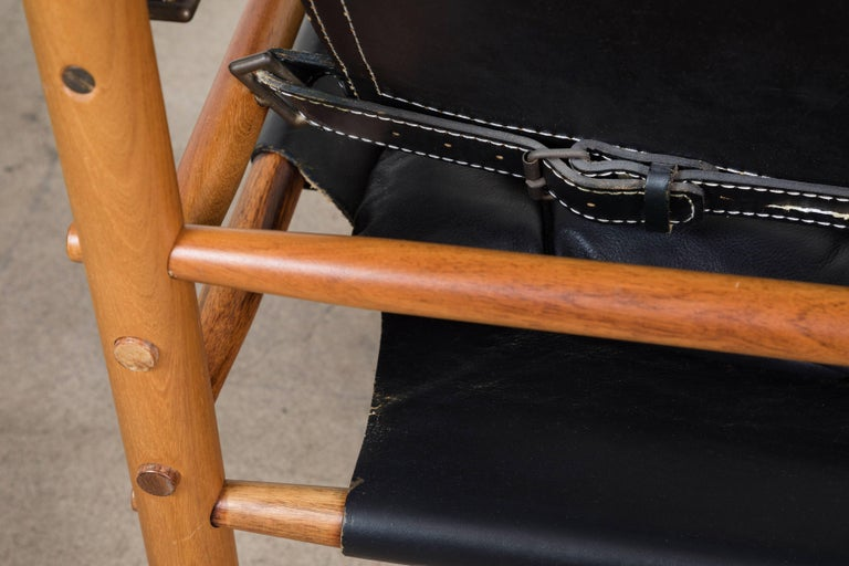 """Rosewood """"Sirocco"""" Safari Chair by Arne Norell In Excellent Condition For Sale In Los Angeles, CA"""