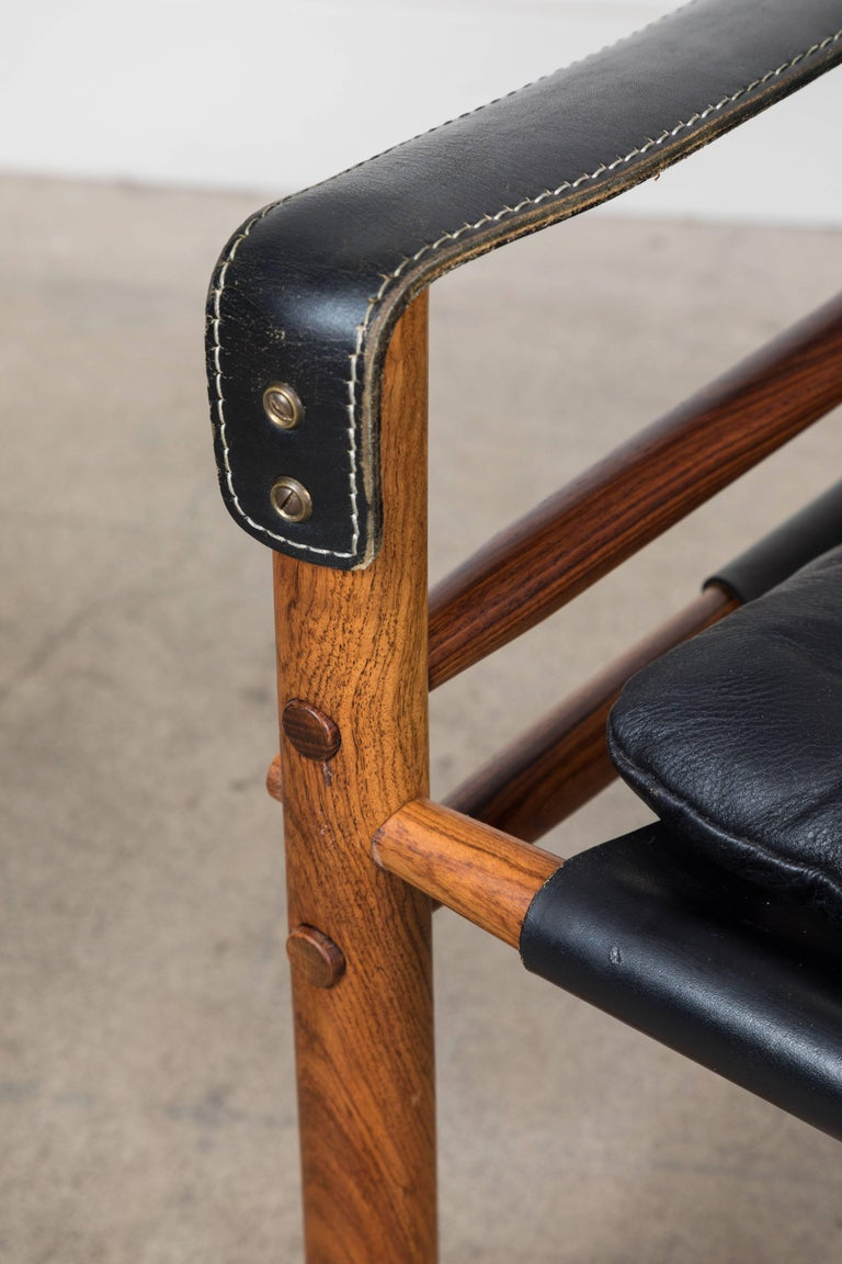 """Mid-20th Century Rosewood """"Sirocco"""" Safari Chair by Arne Norell For Sale"""