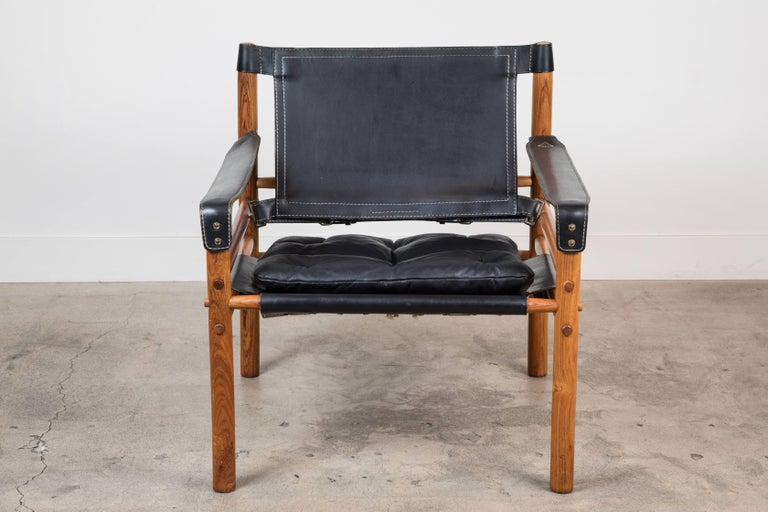 """Rosewood """"Sirocco"""" Safari Chair by Arne Norell For Sale 1"""