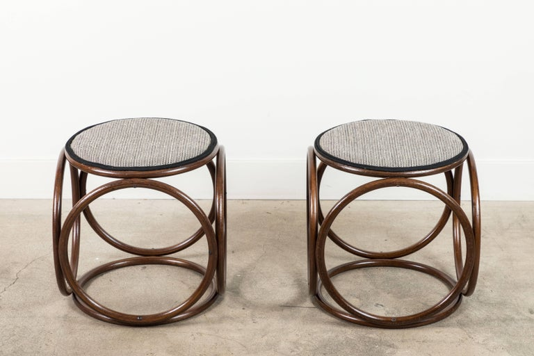 Pair Of Thonet Style Stools For Sale At 1stdibs