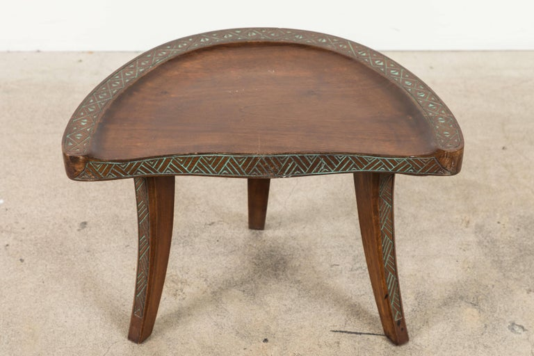 Pair of Early 20th Century Carved Walnut Stools For Sale 1