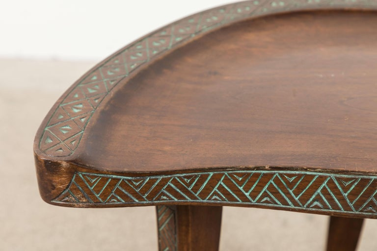 Pair of Early 20th Century Carved Walnut Stools For Sale 2