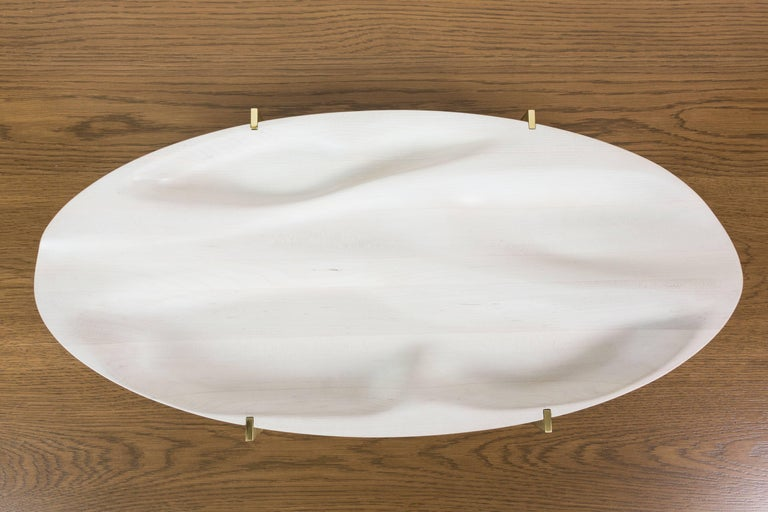 Bleached Maple and Brass Oval Tray by Vincent Pocsik 8