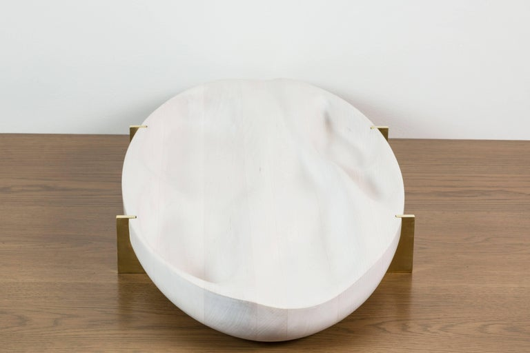 Bleached Maple and Brass Oval Tray by Vincent Pocsik 10