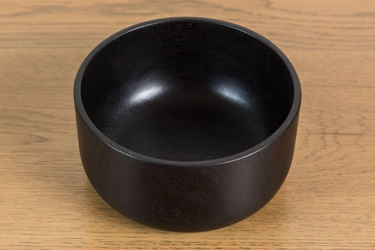 Blackened Walnut and Brass Bowl by Vincent Pocsik 5