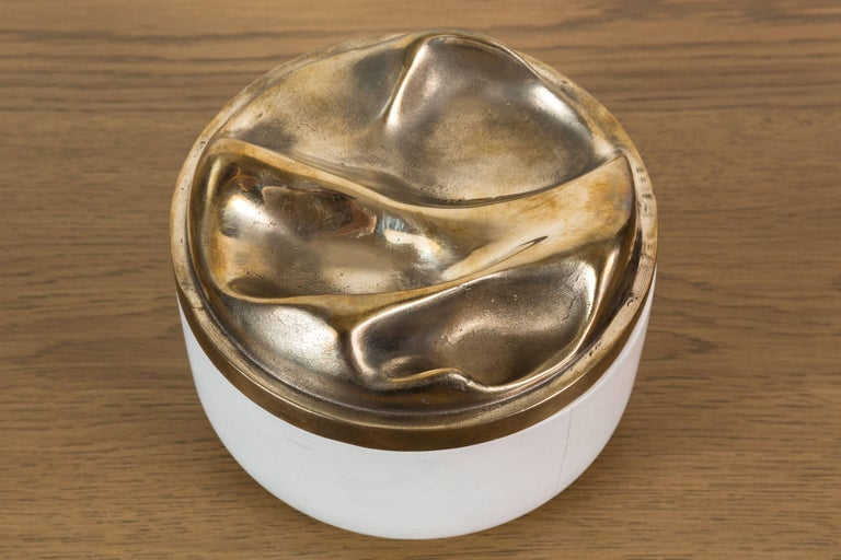 Bleached Maple and Brass Bowl by Vincent Pocsik for Lawson-Fenning For Sale 2