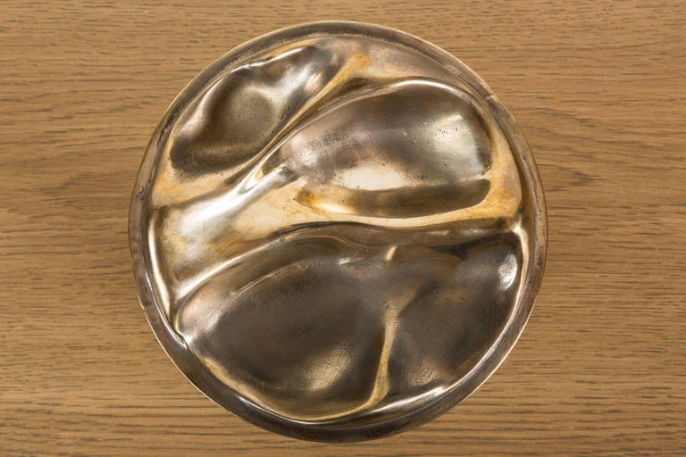 Bleached Maple and Brass Bowl by Vincent Pocsik for Lawson-Fenning For Sale 3