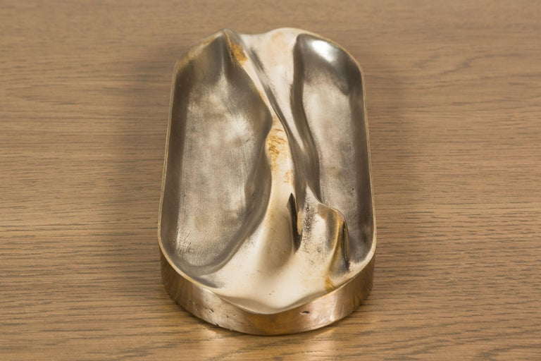 Mid-Century Modern Small Brass Tray by Vincent Pocsik for Lawson-Fenning For Sale