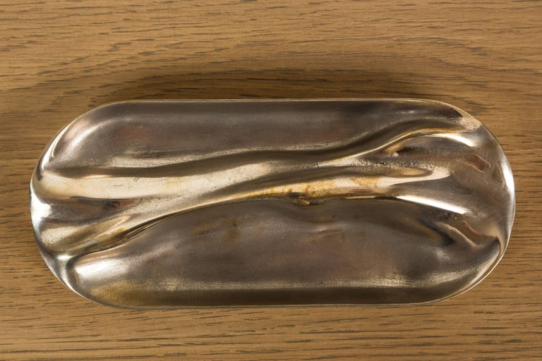 Contemporary Small Brass Tray by Vincent Pocsik for Lawson-Fenning For Sale