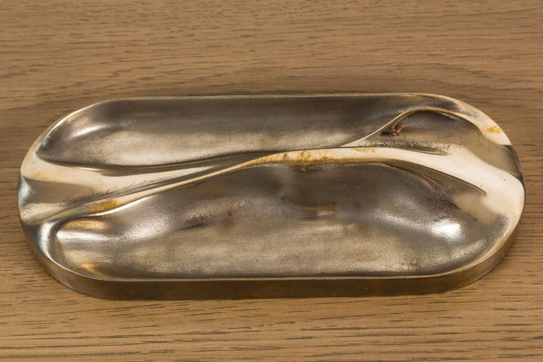 Small Brass Tray by Vincent Pocsik for Lawson-Fenning For Sale 1
