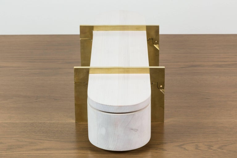 Bleached Maple and Brass Lidded Box by Vincent Pocsik 4