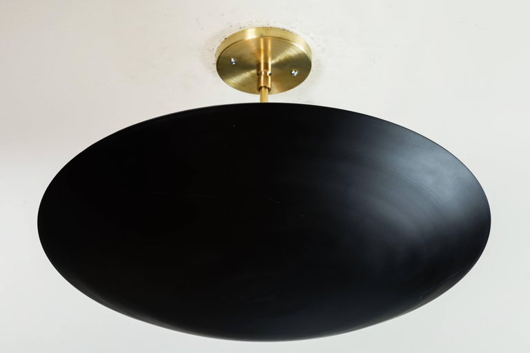 Alta Dome chandelier by Lawson-Fenning in black powdercoat and size small