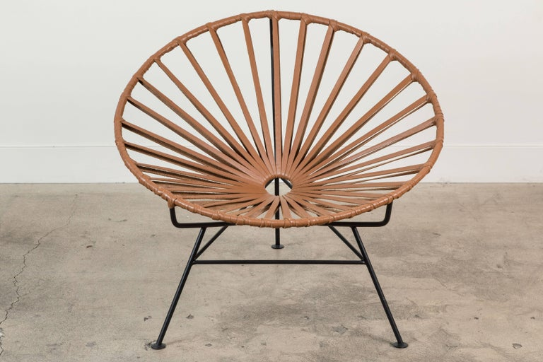 Sayulita Lounge Chair in Leather by Mexa 7