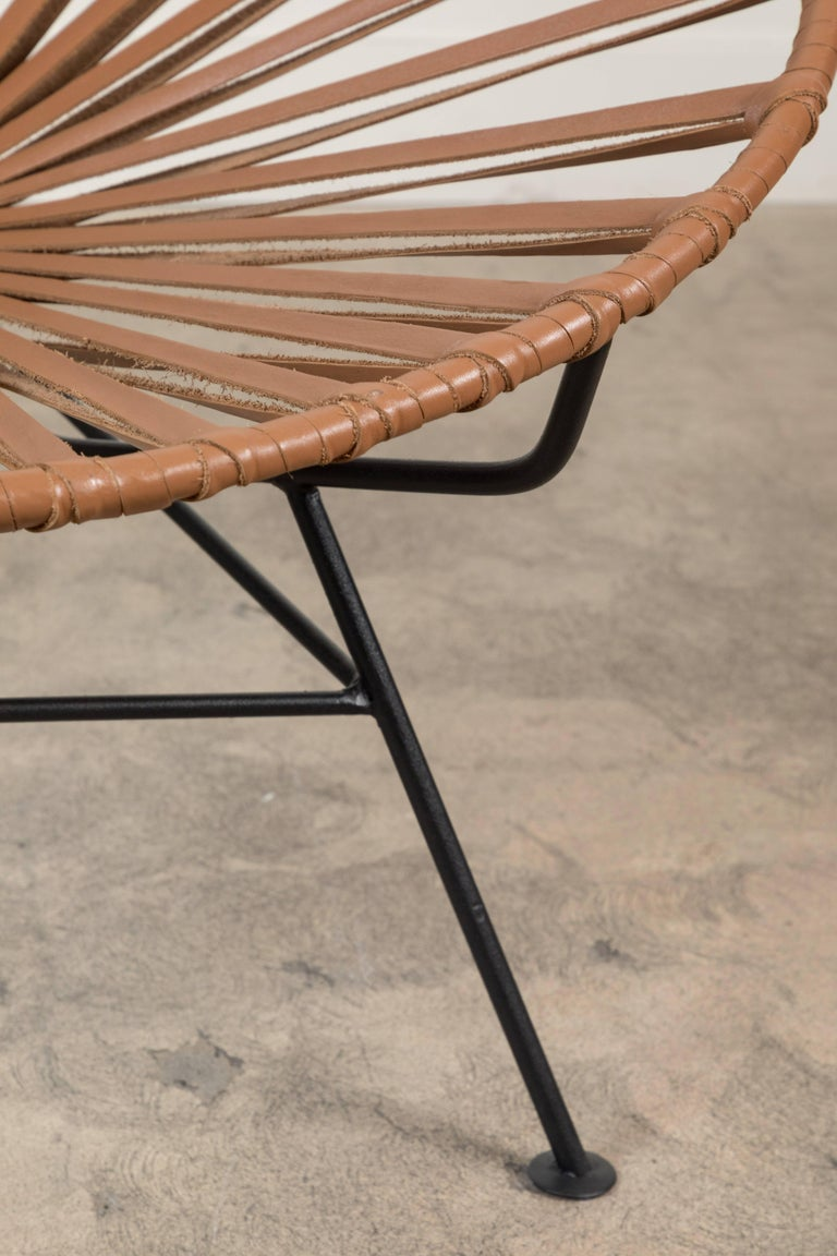 Sayulita Lounge Chair in Leather by Mexa For Sale 3