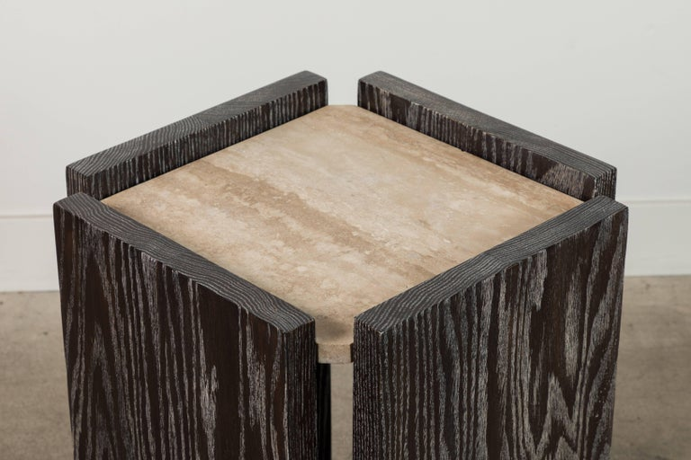 Eppes side table by BP for LF  Available to order in various finishes with a 10-12 week lead time.