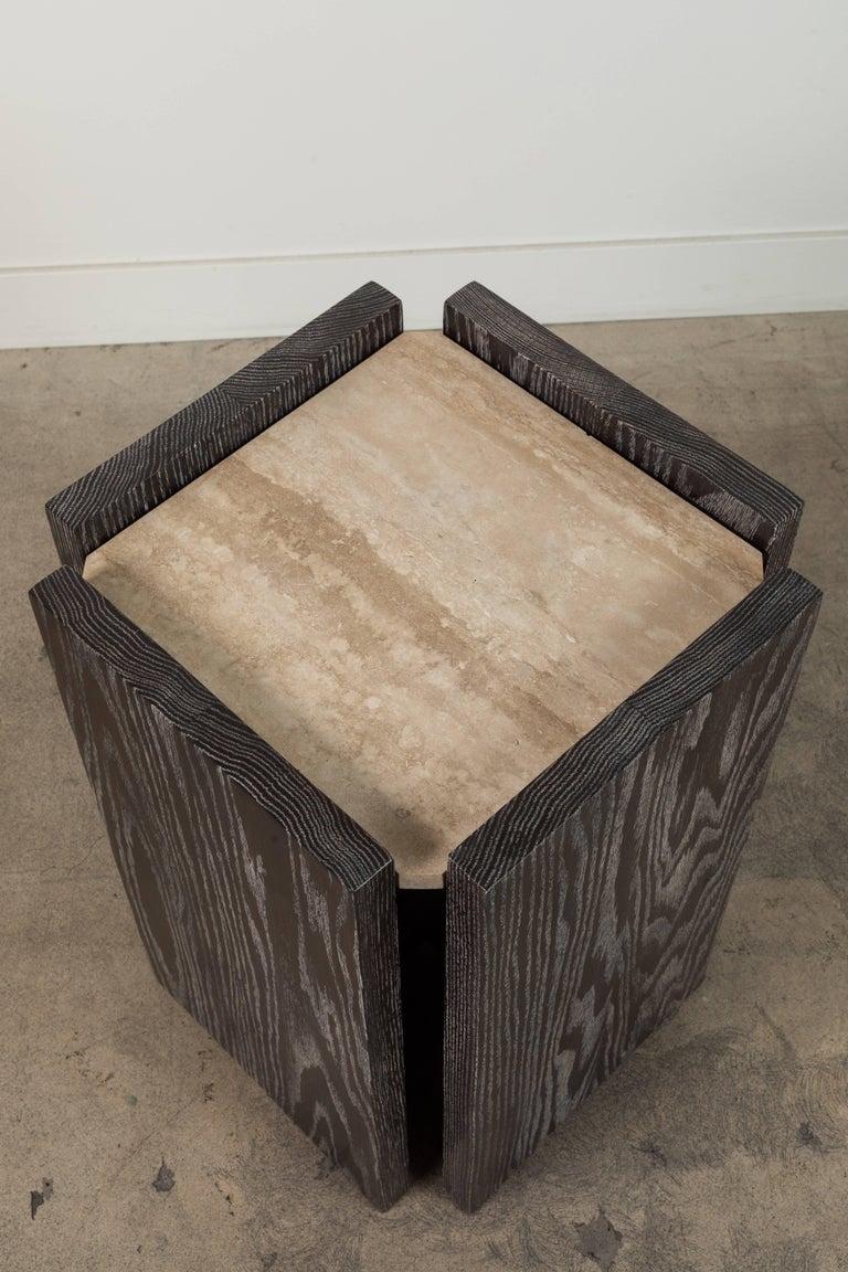 Eppes Side Table by BP for LF In Excellent Condition For Sale In Los Angeles, CA