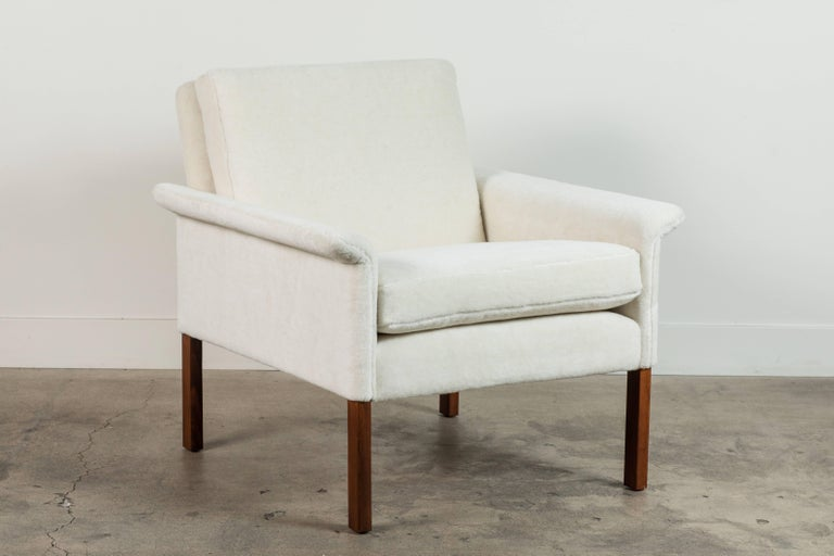Pair of Alpaca Danish Armchairs by Hans Olsen for CS Mobler In Excellent Condition For Sale In Los Angeles, CA