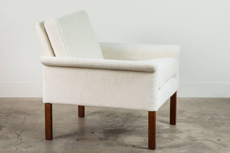 Mid-20th Century Pair of Alpaca Danish Armchairs by Hans Olsen for CS Mobler For Sale