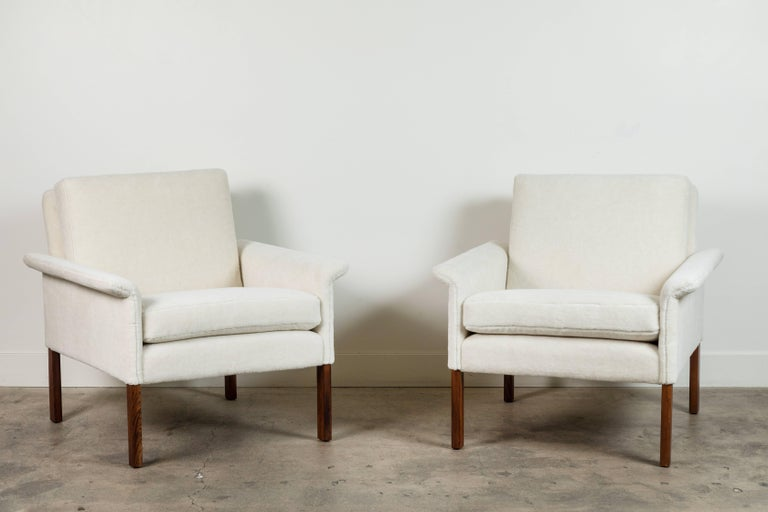 Pair of Alpaca Danish armchairs by Hans Olsen for CS Mobler.
