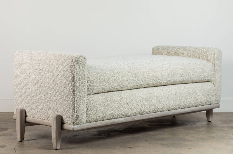 Contemporary George Bench by Lawson-Fenning For Sale