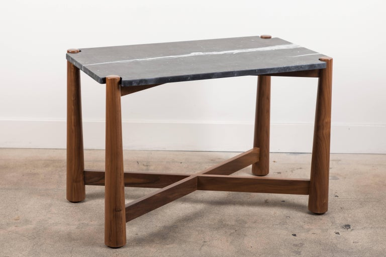 Contemporary Bronson Side Table by Lawson-Fenning For Sale