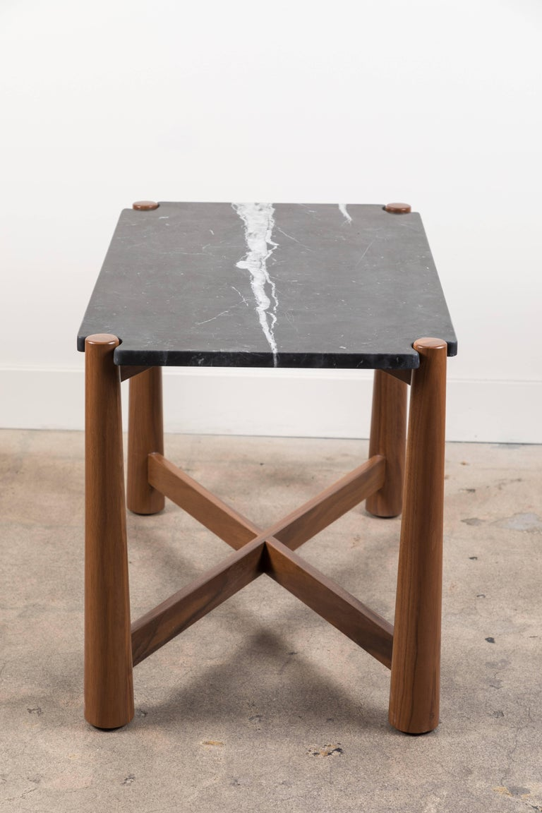 Marble Bronson Side Table by Lawson-Fenning For Sale