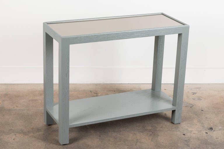 Contemporary Rectangular Narrow Side Table by Lawson-Fenning For Sale