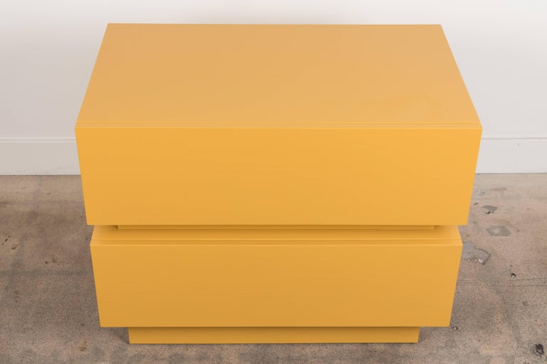 Mid-Century Modern Pair of Large Stacked Box Nightstands by Lawson-Fenning For Sale