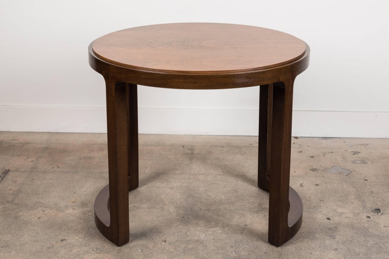 Pair of rosewood and mahogany side table by Edward Wormley for Dunbar.