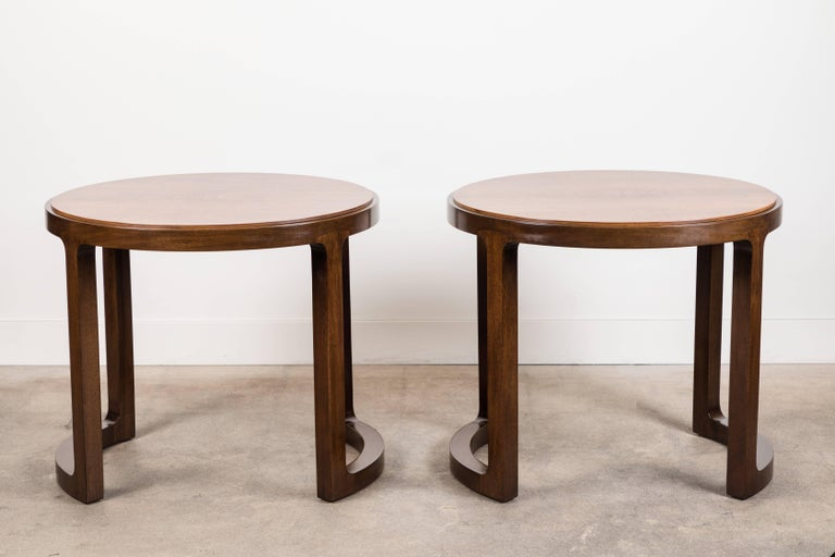 Pair of Rosewood and Mahogany Side Table by Edward Wormley for Dunbar For Sale 3