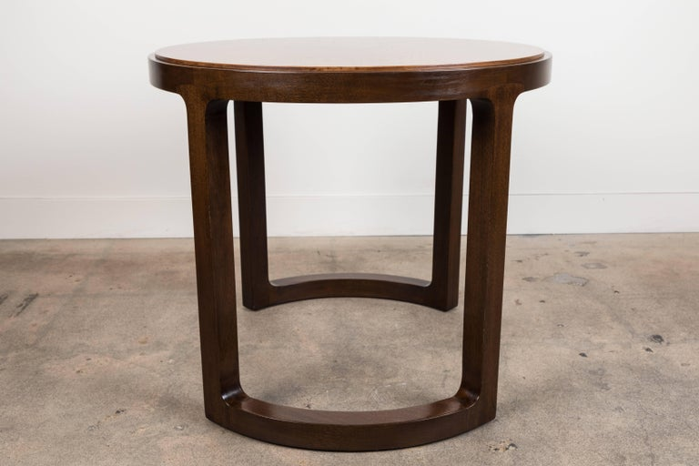 Pair of Rosewood and Mahogany Side Table by Edward Wormley for Dunbar For Sale 1