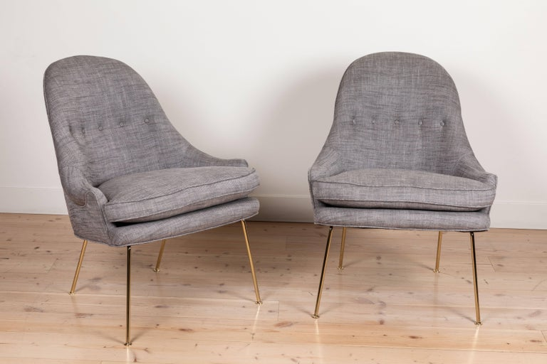 Pair of Carthay chairs by Lawson-Fenning  Available to order in Customer's Own Material with a 6-8 week lead time  As shown: $1, 950 each To order: $1,650 + COM each.