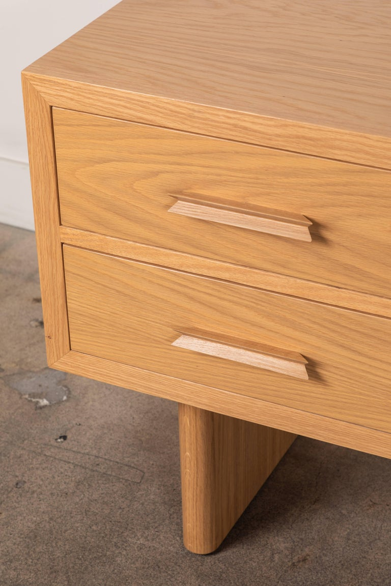 Oak Pair of Inverness Nightstands by Lawson-Fenning For Sale