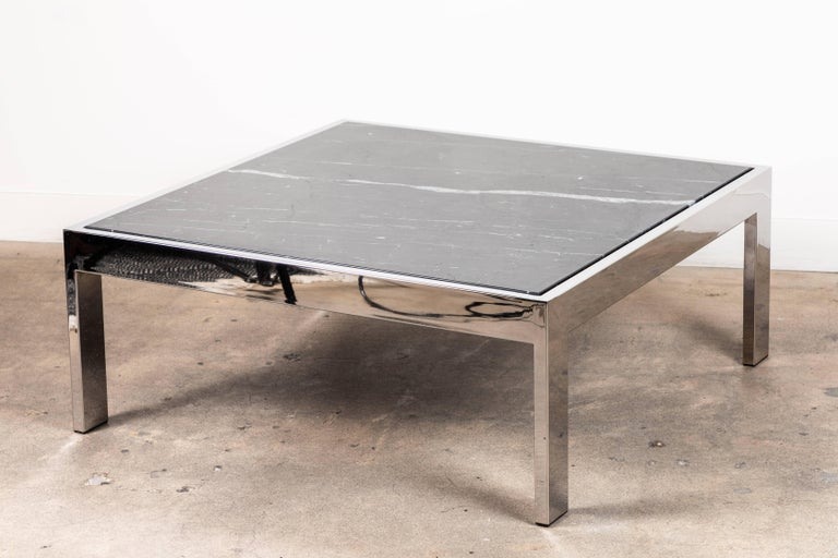Chrome Pace Coffee Table by Lawson-Fenning For Sale