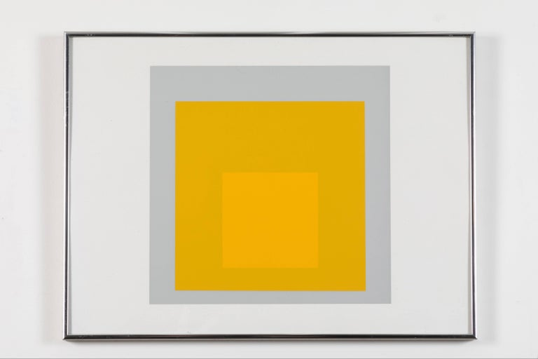 Mid-Century Modern 1 of 4 Folio Prints from Formulation Articulation by Josef Albers For Sale