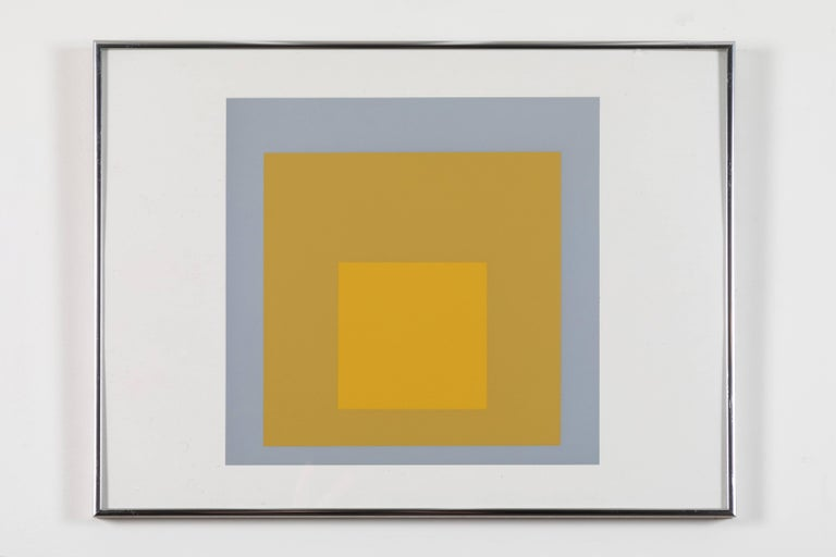 Late 20th Century 1 of 4 Folio Prints from Formulation Articulation by Josef Albers For Sale