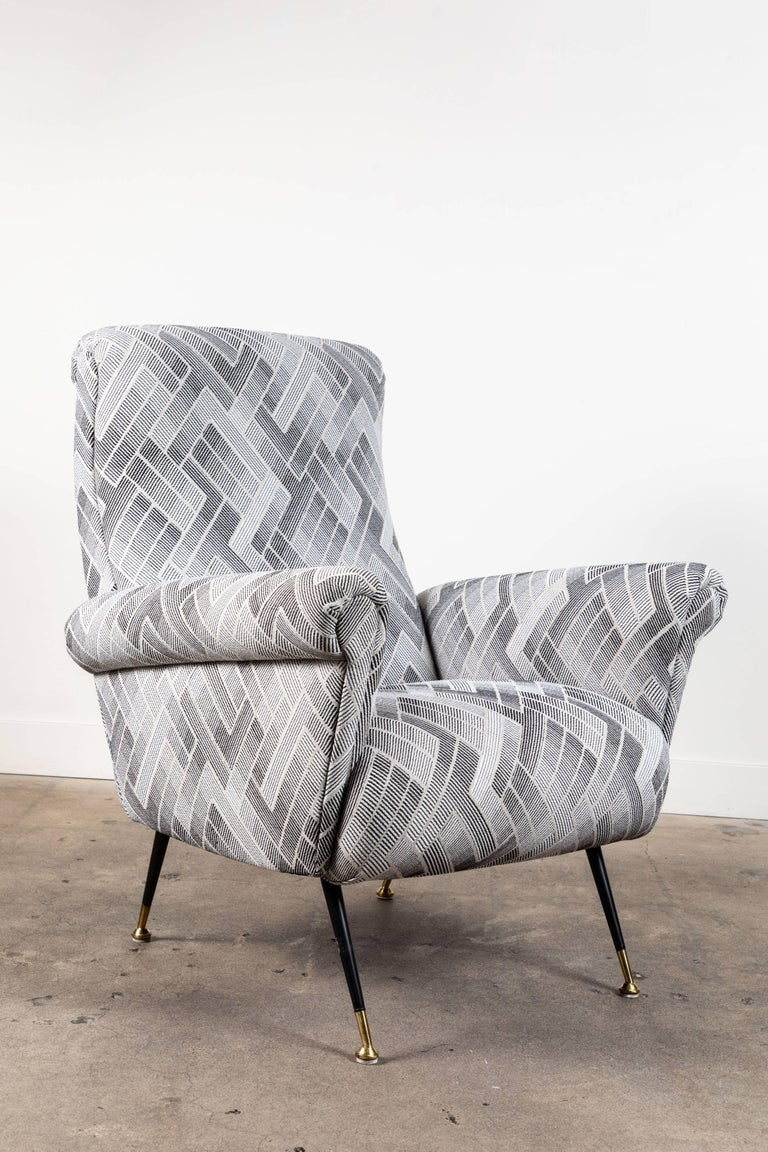 Mid-Century Modern Pair of Vintage Italian Lounge Chairs For Sale