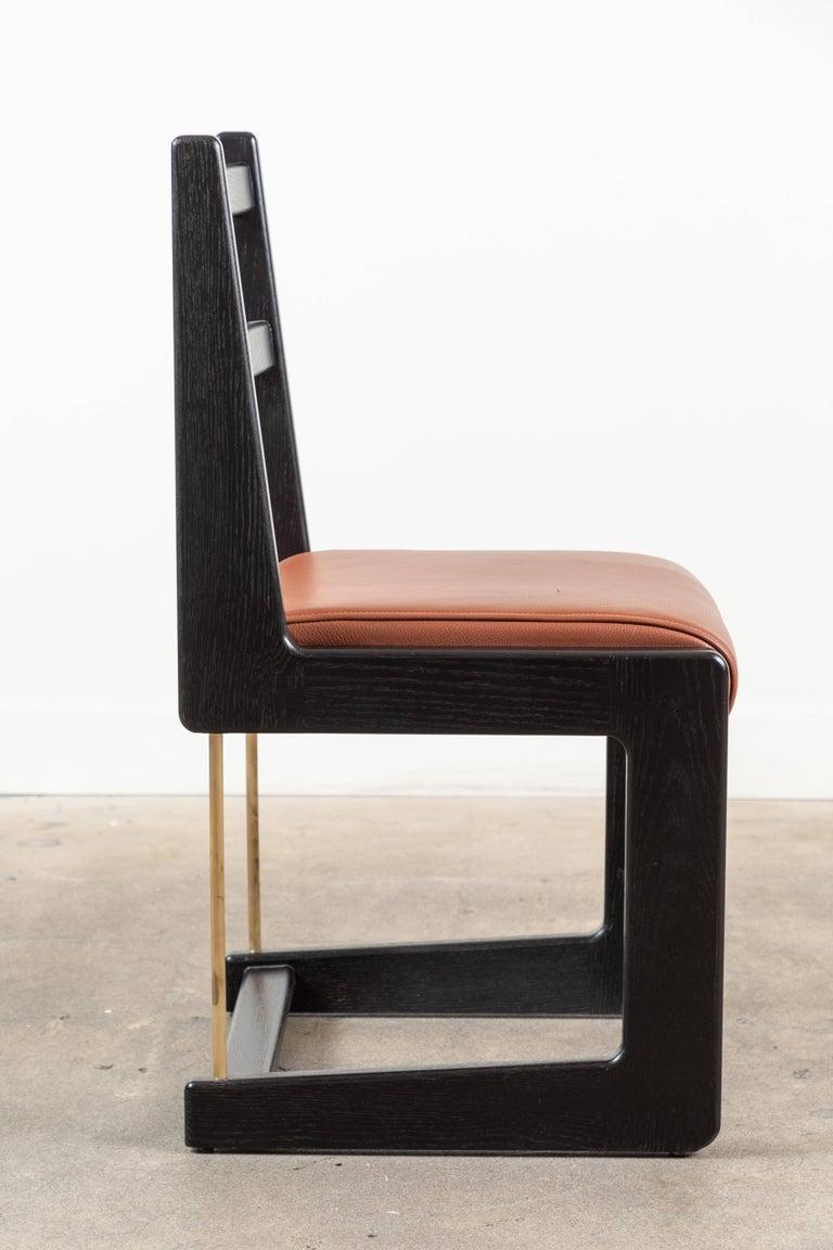 Brass Cruz Dining Chair by Lawson-Fenning For Sale