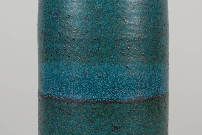 American Extra Large Turquoise Bottle Lamp by Victoria Morris for Lawson-Fenning For Sale