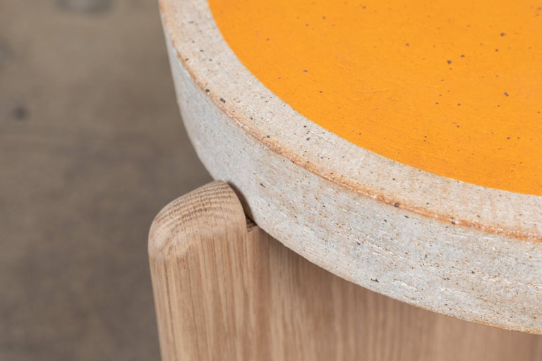 Mid-Century Modern Collabs in Clay Side Table by MQuan Studio for Lawson-Fenning For Sale