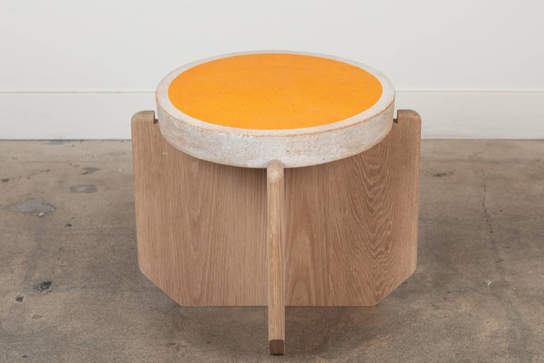 Collabs in Clay Side Table by MQuan Studio for Lawson-Fenning In Excellent Condition For Sale In Los Angeles, CA