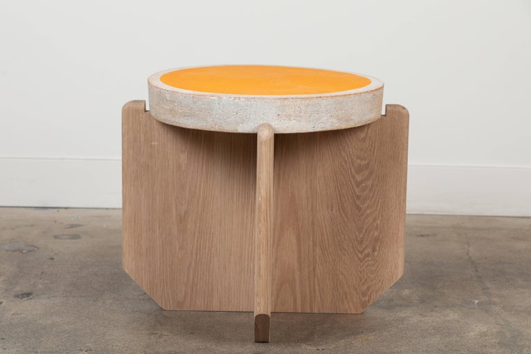 Contemporary Collabs in Clay Side Table by MQuan Studio for Lawson-Fenning For Sale