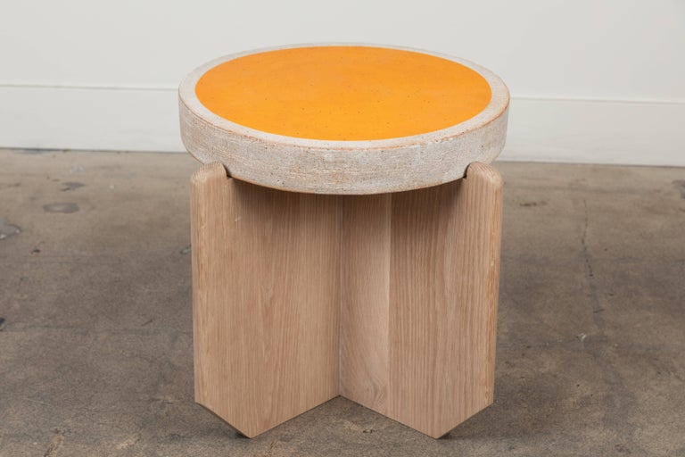 Ceramic Collabs in Clay Side Table by MQuan Studio for Lawson-Fenning For Sale