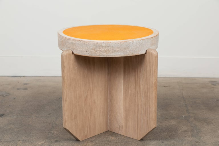 Collabs in Clay Side Table by MQuan Studio for Lawson-Fenning For Sale 1