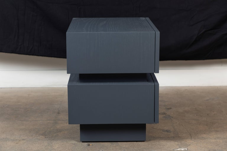 American Pair of Small Stacked Box Nightstands by Lawson-Fenning For Sale