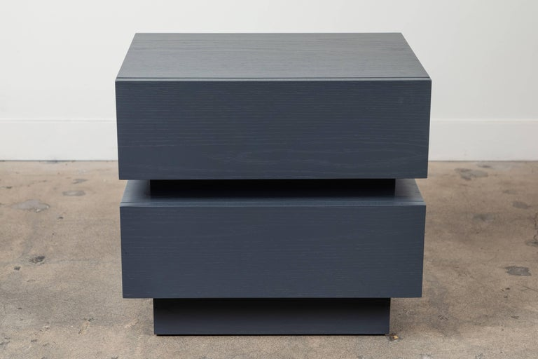 Pair of Small Stacked Box Nightstands by Lawson-Fenning In Excellent Condition For Sale In Los Angeles, CA