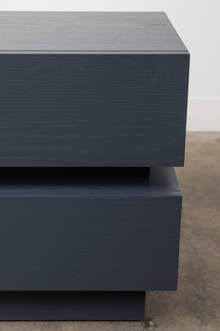 Pair of Small Stacked Box Nightstands by Lawson-Fenning For Sale 1