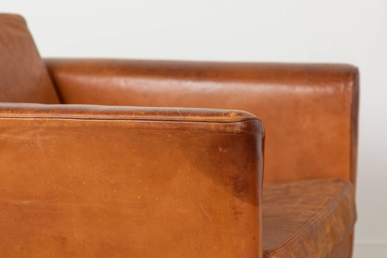 Vintage Leather and Rosewood Chair by Arne Norell For Sale 5