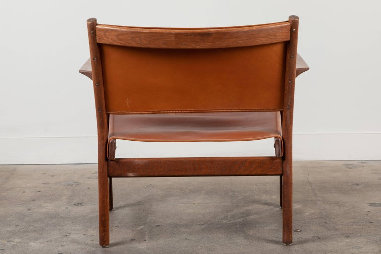 Pair of Leather Lounge Chairs Attributed to Gunnar Myrstrand For Sale 2